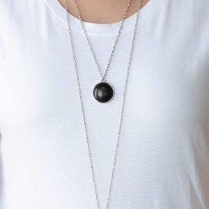 "New! Paparazzi ""Desert Medallions"" Black Necklace"